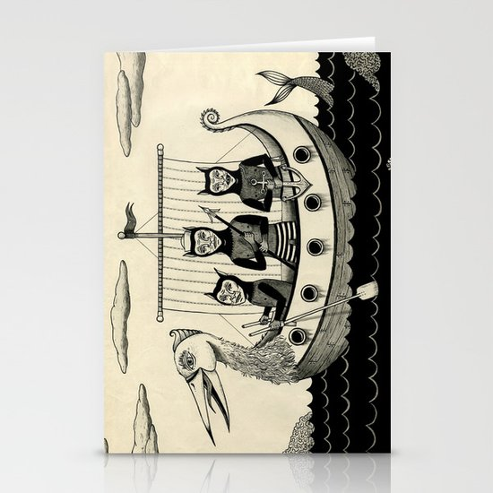 The Harpooners  Stationery Card