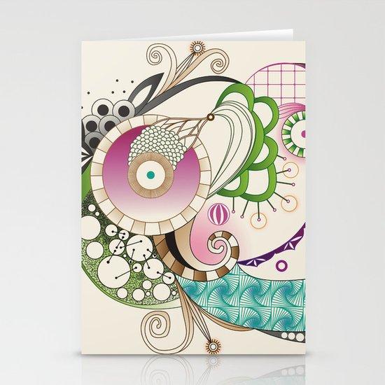 Autumn tangle, sienna - purple color set Stationery Card