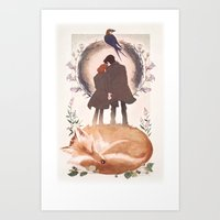 Fable Of Mulder And Scul… Art Print