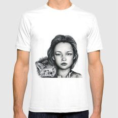 The Girl and Fox Mens Fitted Tee White SMALL