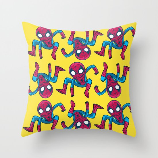 Does whatever a spider can! Throw Pillow
