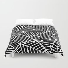 Abstraction Spots Close Up Black Duvet Cover
