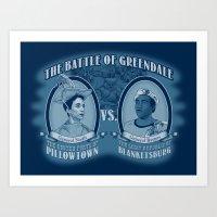 Pillowtown vs Blanketsburg Art Print