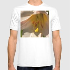 Centre of the Lily Mens Fitted Tee White SMALL