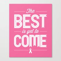 Hot Pink Hope  Canvas Print