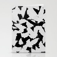 Black Bird Wings on Grey Stationery Cards