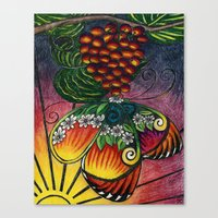 My Sarah Butterfly Canvas Print