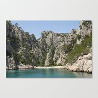 french alcove beach Canvas Print