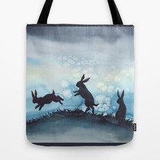 Blue Bunnies Tote Bag