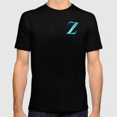 Alphabet typography Z SMALL Mens Fitted Tee Black