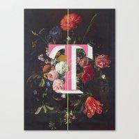 Letter T Canvas Print
