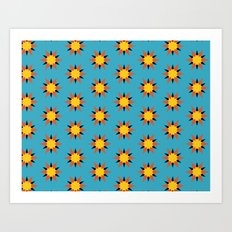 Retro Starburst Art Print
