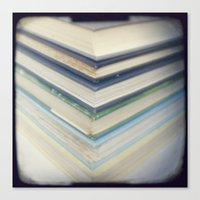 Blue Chevron Books Canvas Print