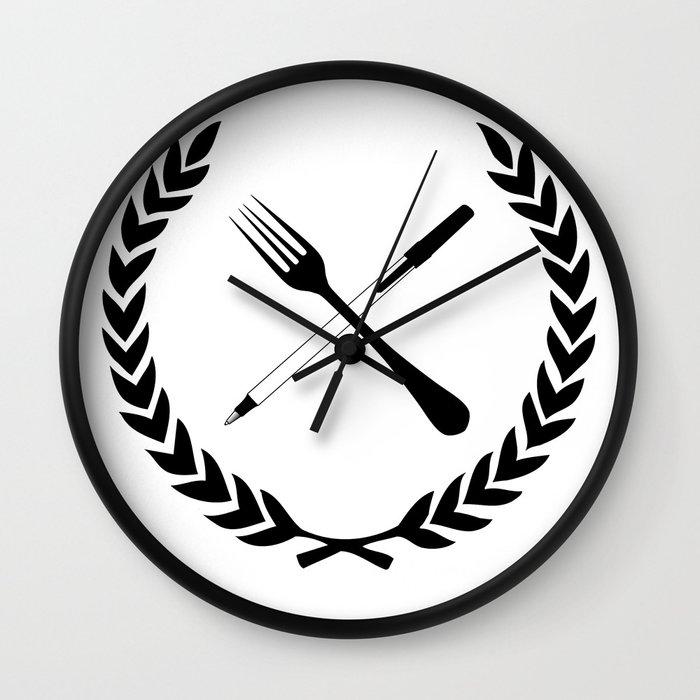 Eating and Drawing Wall Clock by Noah Zark | Society6