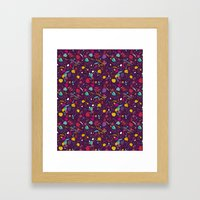 Purple Seeds Framed Art Print