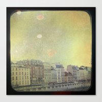 Paris Row Canvas Print