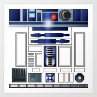 Shiny New Droid Art Print