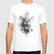STONE LION SMALL Mens Fitted Tee White