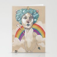 RAINBOW UNICORN Stationery Cards