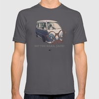 Hip The Road, Jack! Mens Fitted Tee Asphalt SMALL