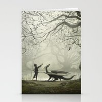 The Boy And His Dragon Stationery Cards