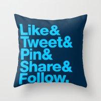 The Social Type Throw Pillow