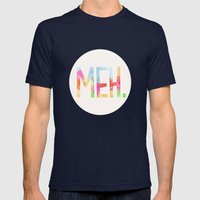 Meh. Mens Fitted Tee Navy SMALL