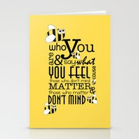 Bee who you are..... Stationery Cards