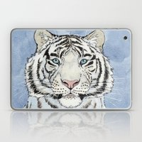 White Tiger In Blue A024 Laptop & iPad Skin