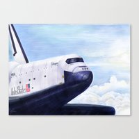 Enterprise Through The C… Canvas Print