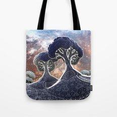 Broccoli Planet in Winter  Tote Bag
