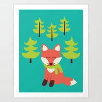 Forest Fox Art Print