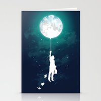 balloon Stationery Cards featuring Burn the midnight oil  by Picomodi