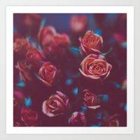 Botánico Oscuro Art Print