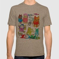 critter collection Mens Fitted Tee Tri-Coffee SMALL