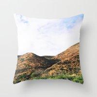 Malibu Mountains Throw Pillow