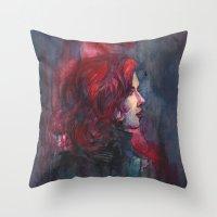 Widow Throw Pillow