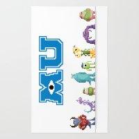 Pixel Monsters Universit… Rug