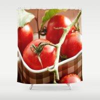 Tomato Still life Shower Curtain