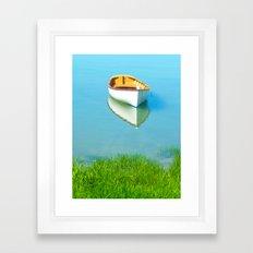 Serene boat scene#1 Framed Art Print