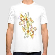 Queen Flower Mens Fitted Tee White SMALL