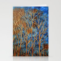 Trees Of Gold  Stationery Cards