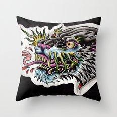 panther tongue Throw Pillow