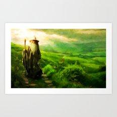 Gandalf's Return - Paint… Art Print