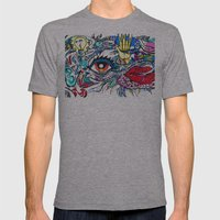 5 SENSES Mens Fitted Tee Athletic Grey SMALL