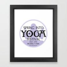 Spring Into Yoga! Framed Art Print