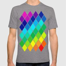 Tetrahedral Rainbow Mens Fitted Tee Tri-Grey SMALL
