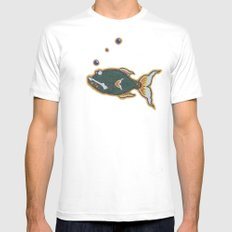 Autumn Run I SMALL White Mens Fitted Tee
