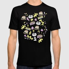 Cat Jams Black Mens Fitted Tee SMALL