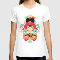 Keiko Womens Fitted Tee White SMALL